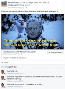 freude über kalten winter